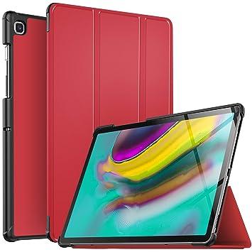 IVSO Funda Carcasa para Samsung Galaxy Tab S5e 10.5 T720/T725, Slim PU Protectora Carcasa Cover para Samsung Galaxy Tab S5e T720/T725 10.5 2019, Rojo