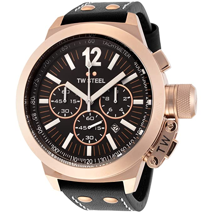 Amazon.com: TW Steel Mens CE1024 CEO Canteen Black Leather Chronograph Dial Watch: TW Steel: Watches