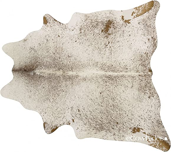 eCowhides Brown Salt and Pepper Brazilian Cowhide Area Rug