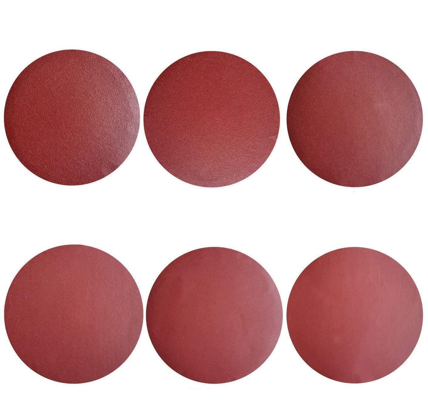 GeBot 50PCS 12-Inch NO-Hole PSA Aluminum Oxide Sanding Disc Self Stick Assorted