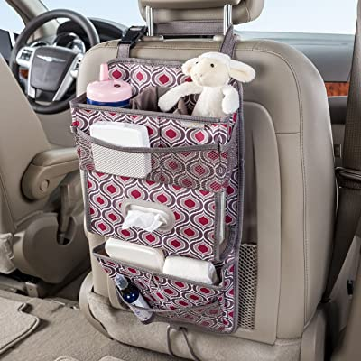 High Road TissuePockets Backseat Organizer with Tissue Compartment and Cup Holder Bin (Sahara): Home Improvement