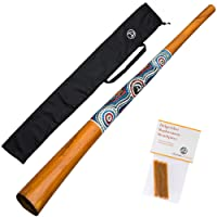 DIDGERIDOO NATURAL PAINT: didgeridoo including beeswax and didgeridoobag