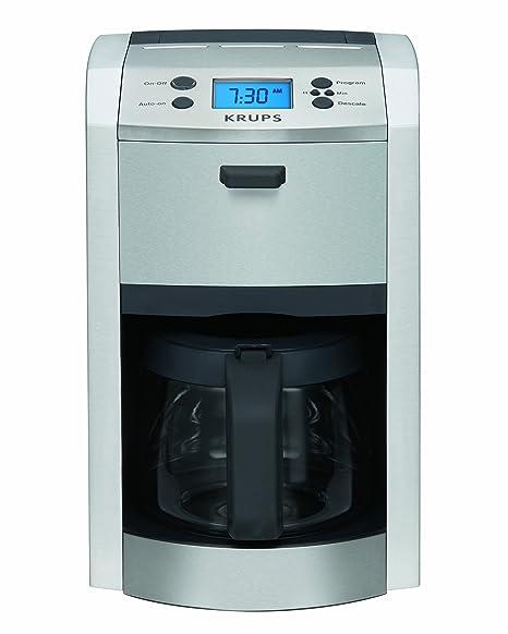 Amazon.com: Krups km8105 12-cup Die-Cast Cafetera eléctrica ...