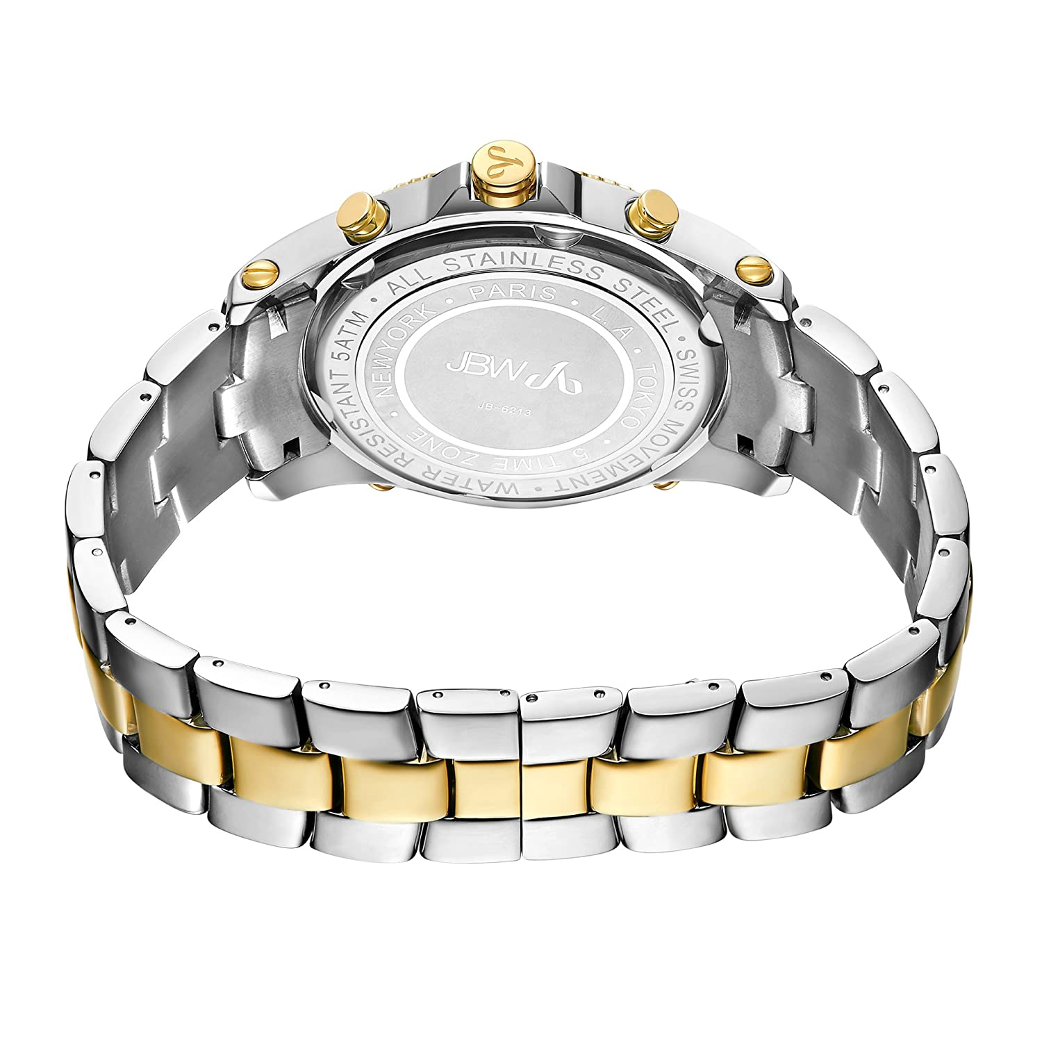 3a01bc504af Amazon.com  JBW Luxury Men s Jet Setter 2.34 Carat Diamond Wrist Watch with  Stainless Steel Link Bracelet  Watches