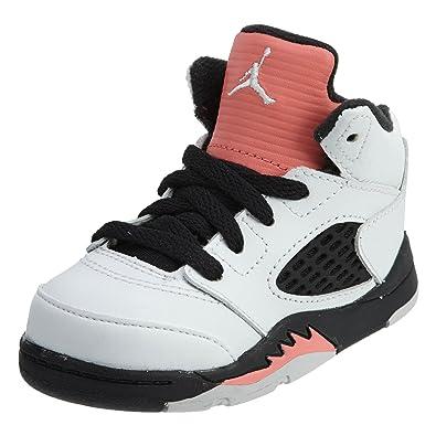 0c977119a072 Jordan 725172-115 Kids Toddler 5 Retro GT White SUNBLUSH Black
