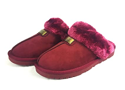 75d82c5f409c Geniune GCG Ladies Faux Sheepskin Slippers Mules Non Slip Hard Sole Womens  (4