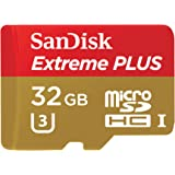 SanDisk Extreme PLUS 32GB microSDXC UHS-I/U3 Card with Adapter (SDSQXSG-032G-GN6MA) [Newest Version]