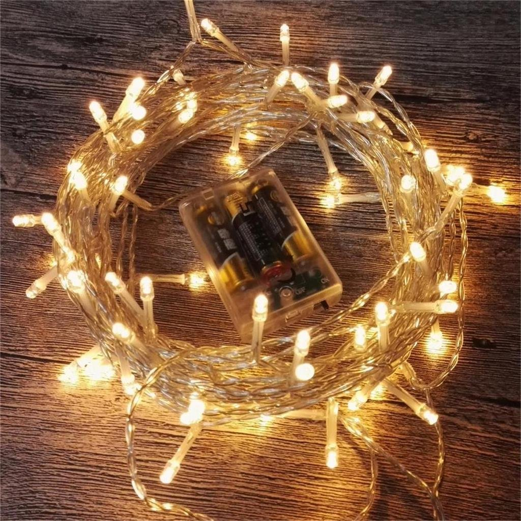 amazon com amars led string lights battery operated 33 feet
