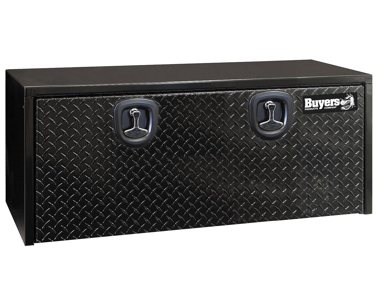 7. Buyers Products Black Steel Underbody Truck Box w/Aluminum Door (18X18X48 Inch)