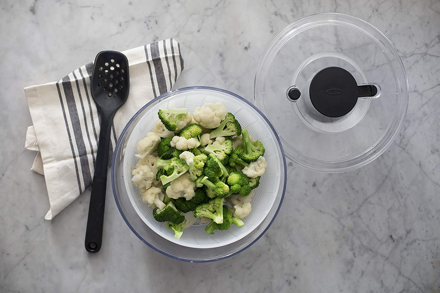 Clear Large OXO Good Grips Salad Spinner