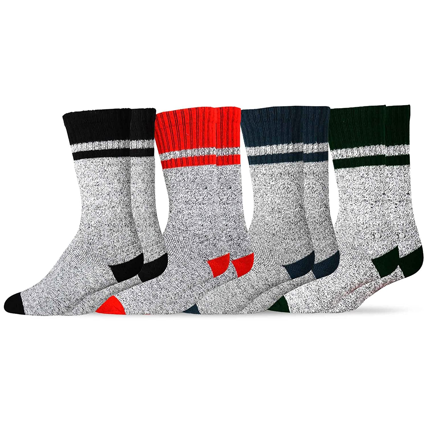 Soxnet Eco Friendly Heavy Weight Recyled Cotton Thermals Boot Socks 4 Pairs Soxnet Inc