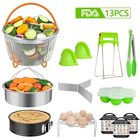 c30d959b3f TAIKER 13 Pcs Accessories for Instant Pot Pressure Cooker Accessories for 6  qt