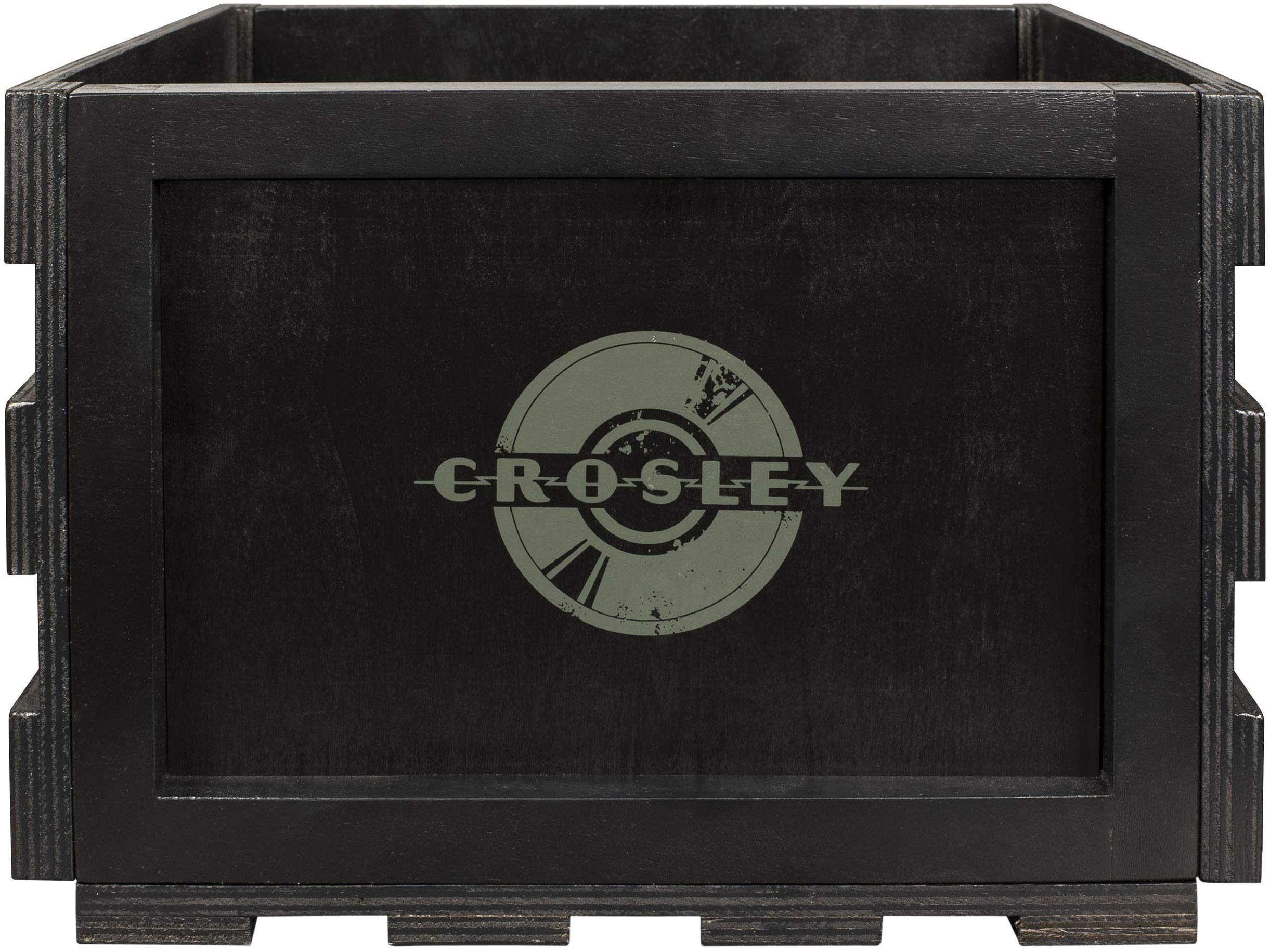 Crosley AC1004A-BK Record Storage Crate Holds up to 75 Albums, Black by Crosley (Image #3)