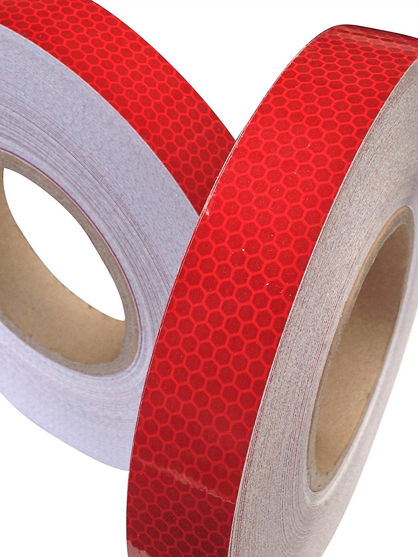 tuqiang/® Nastro Adesivo Alta Visibilit/à Riflettente Colore Rosso 25/mm x 5/m 1pc