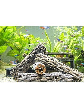 amazon com wood aquarium décor pet supplies