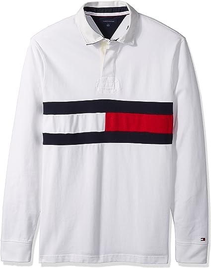 Tommy Hilfiger Hombre 78C1451 Manga Larga Camisa Polo - Blanco - X ...