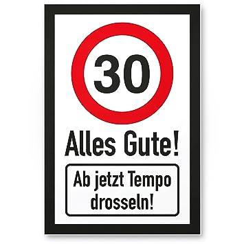 Dankedir 30 Tempo Drosseln Kunststoff Schild Alles Gute
