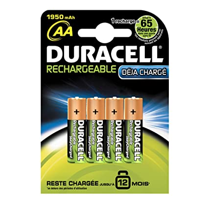243f9bdddcc Duracell Stay Charged Rechargeable AA Batteries 1,950: Amazon.co.uk:  Electronics