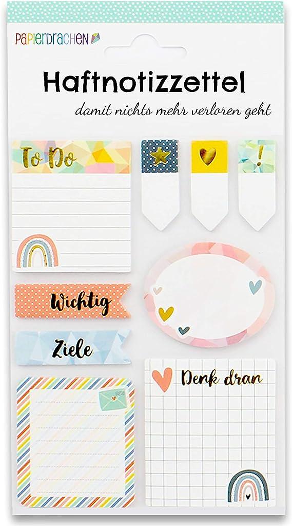 To do Wochen/übersicht Klebezettel 9 verschiedene Bl/öcke Haftnotizen viele hilfreiche Notizzettel f/ür dein Notizbuch Bullet Journal Sticky Notes Watercolor Set 3