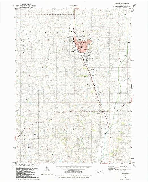 Audubon Iowa Map.Amazon Com Yellowmaps Audubon Ia Topo Map 1 24000 Scale 7 5 X