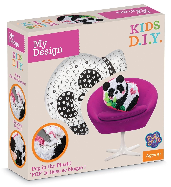 MGM - MGM77235 - Loisirs Créatifs - DIY - Coussin Panda à Décorer - Pluschraft The Orb Factory ORB77235