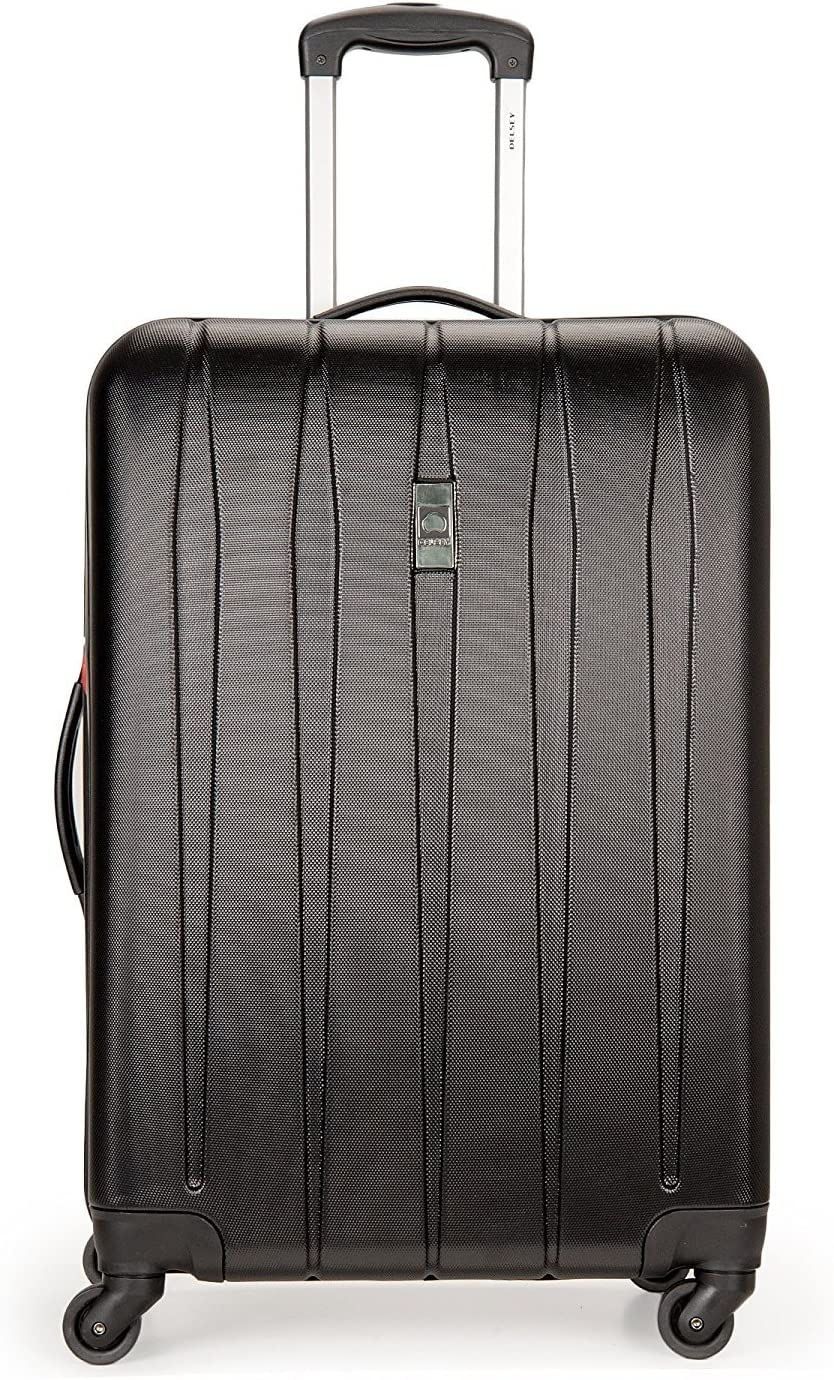 Delsey Luggage Volume DLX Hardside 25 Inch Expandable Spinner Luggage Black