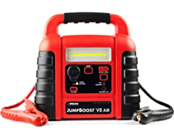 Wagan EL7552 Jumpboost V8 Air 1000 Peak Amps Jump Starter with 260 PSI Air Compressor, 1 Built-in DC Socket and USB Port , Re