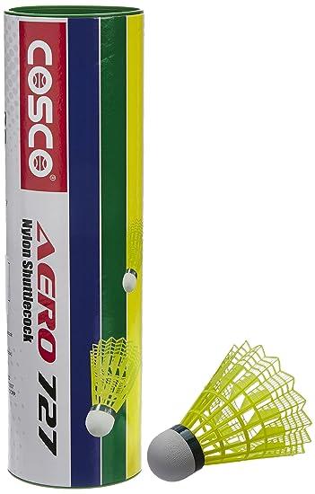 Details about  /COSCO Badminton Shuttle Cock Aero 727 Nylon 6 Piece TRAINING DURABLE FOAM BASE