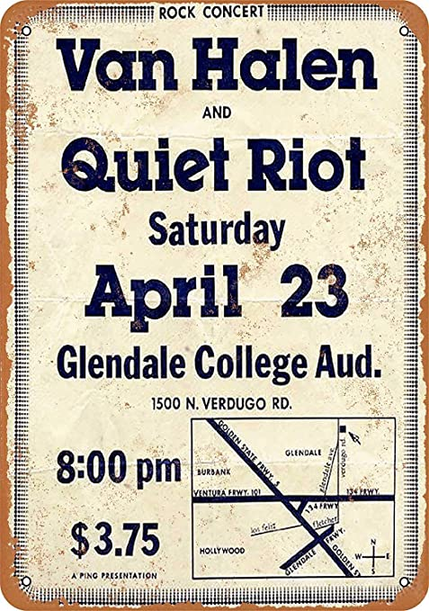 HALEY GAINES Van Halen & Quiet Riot Placa Cartel Póster de ...