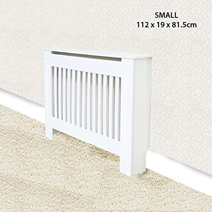 Cubierta para radiador de estilo tradicional - armario con rejillas verticales de alta calidad MDF,