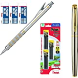 Pentel Graph Gear 1000 Automatic Drafting Pencil (0.9 mm Bundle (Pencil,Leads + Erasers))