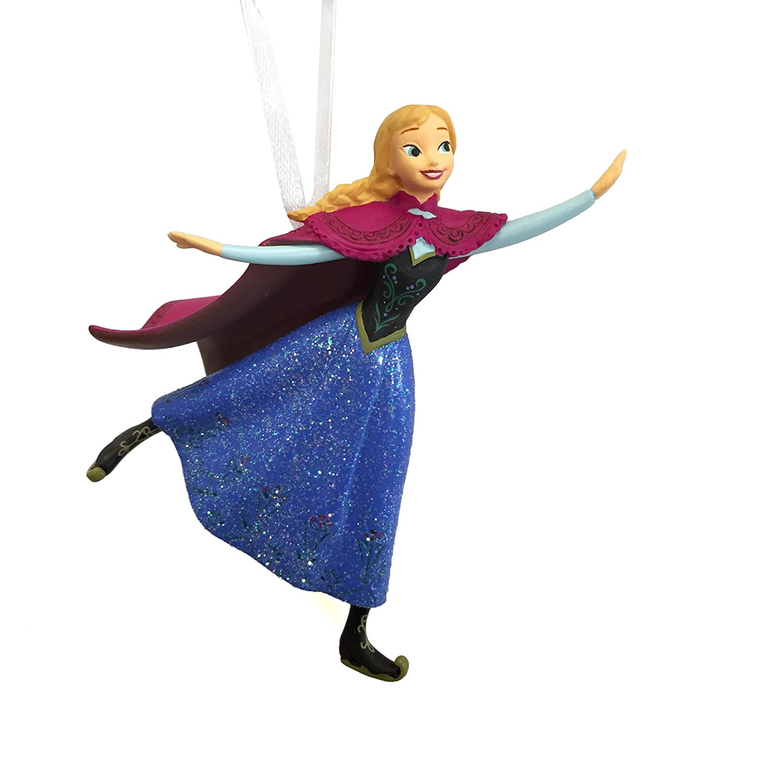 Amazon.com: Hallmark Disney Frozen Anna Skating Christmas Ornament ...