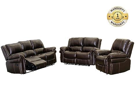 Amazon Com Windaze Sectional Reclining Sofa Set 3 Pcs Sectional