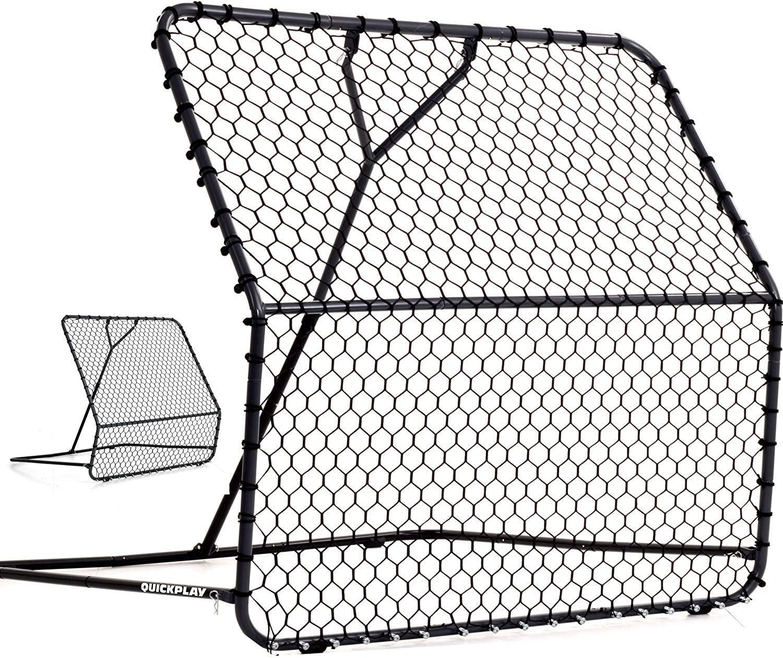 QUICKPLAY PRO Rebounder Fu/ßball-Netzr/ückprallwand; Netz mit verstellbarem Abprallwinkel
