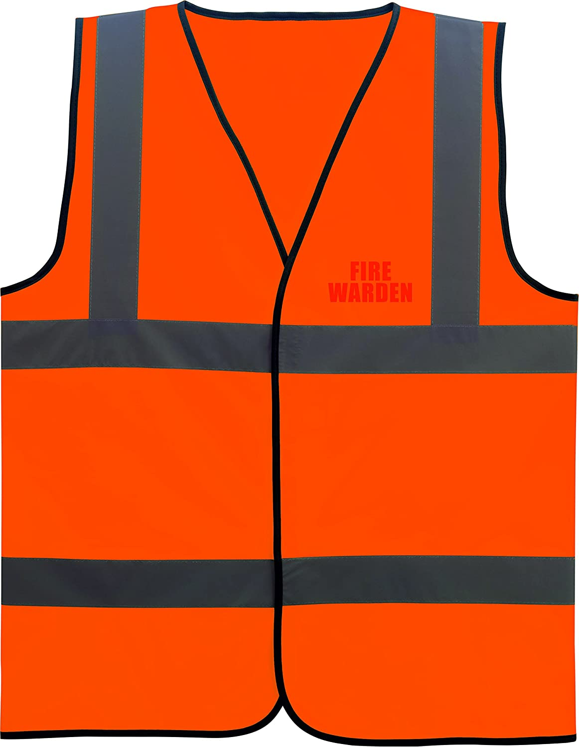 Fire Warden Hi Vis Viz High Visibility Vest Safety Waistcoat With Velcro Fastening