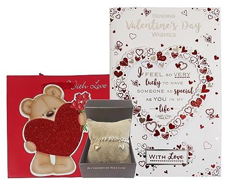 Alguien especial Tarjeta pulsera Teddy con amor Bolsa De ...