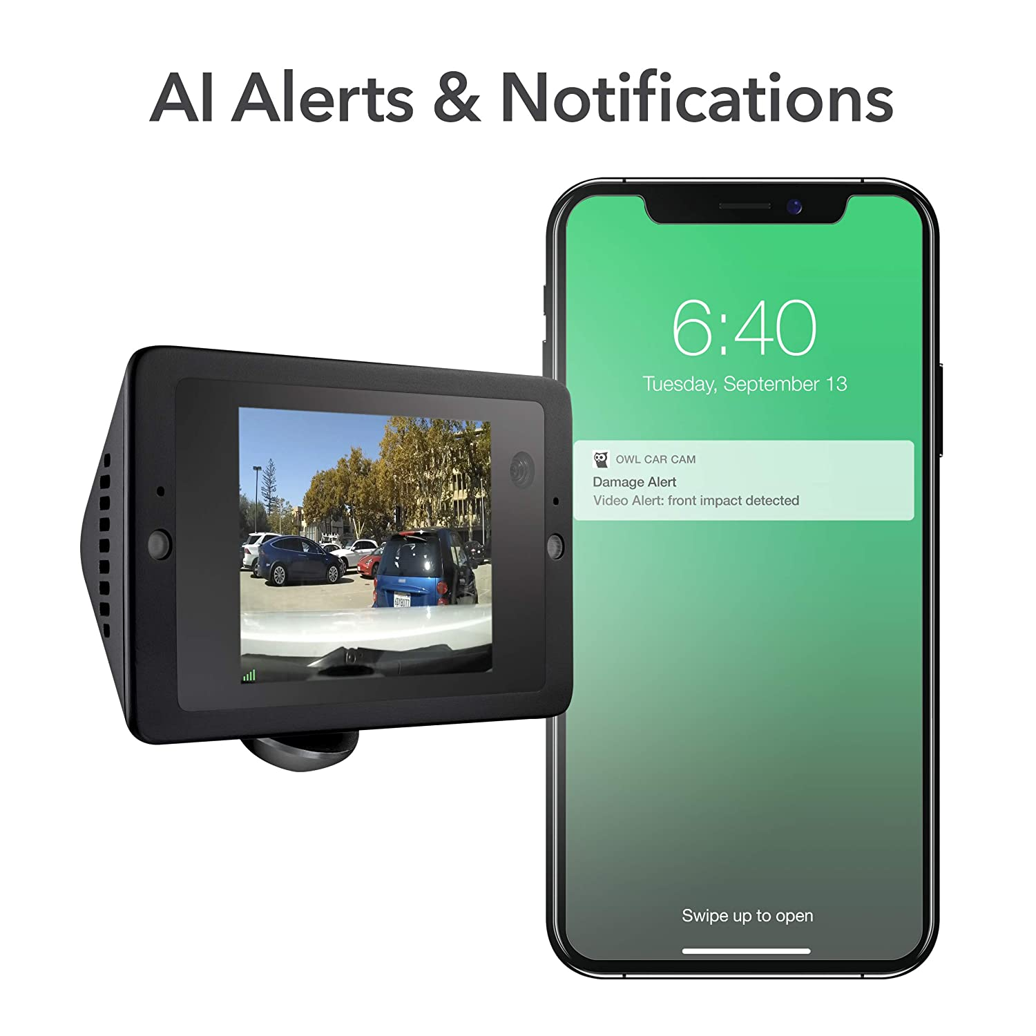 History Video Alerts Dual HD Cameras Live View Hands-Free Voice Control 2-Way Talk Owlcam: The 4G LTE Smart Dash Camera That Sends Video to Your Phone US Only Driving /& Parked Crash Assist