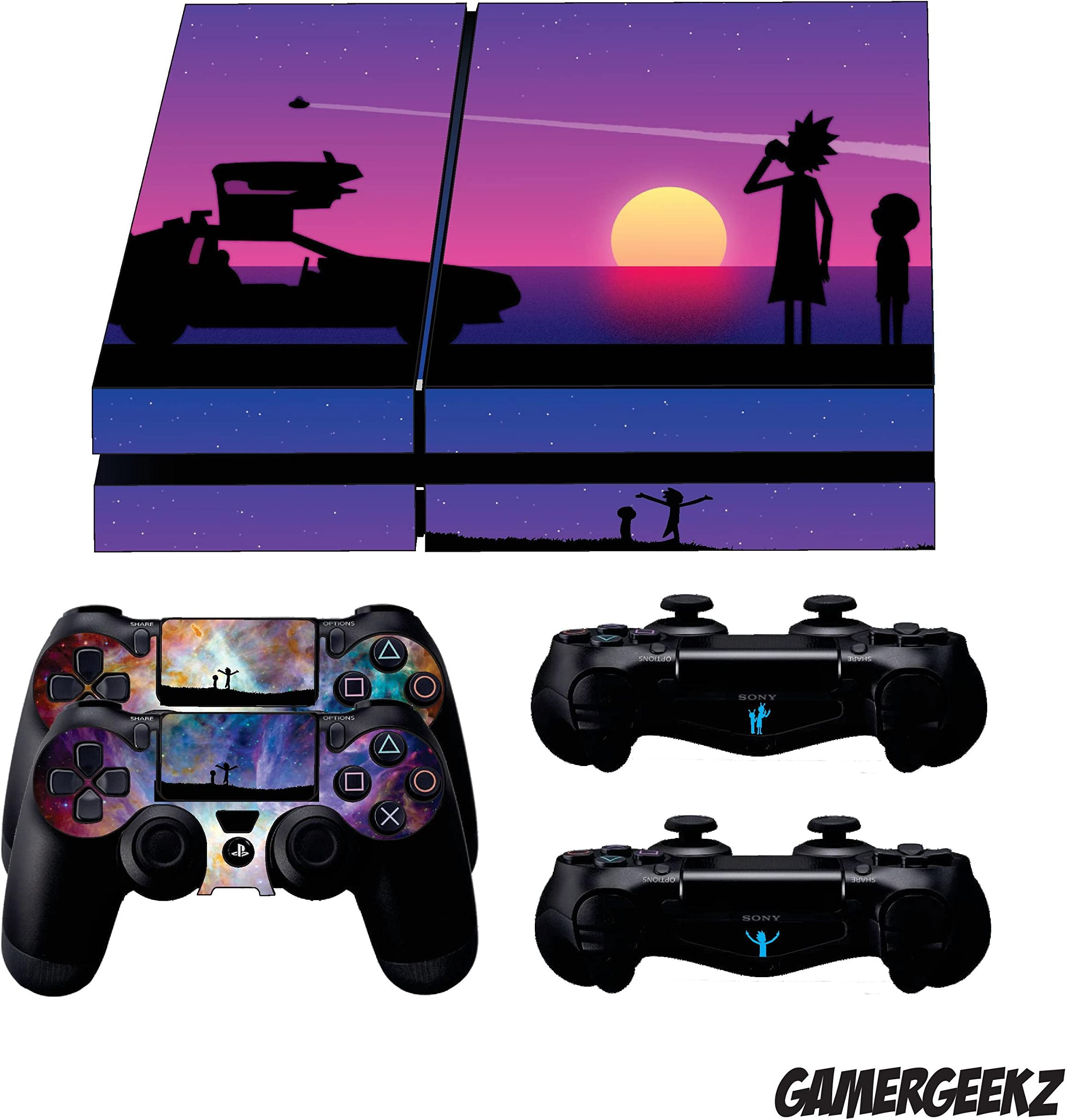Rick And Morty Ps4 Skin For Playstation 4 Console And Controllers Video Game Accessories Faceplates, Decals & Stickers