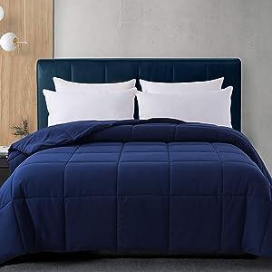 Cosybay Navy Blue Comforter Twin XL, Down Alternative Bed Comforter, Lightweight Duvet Insert with Corner Tabs(68×92 Inch)