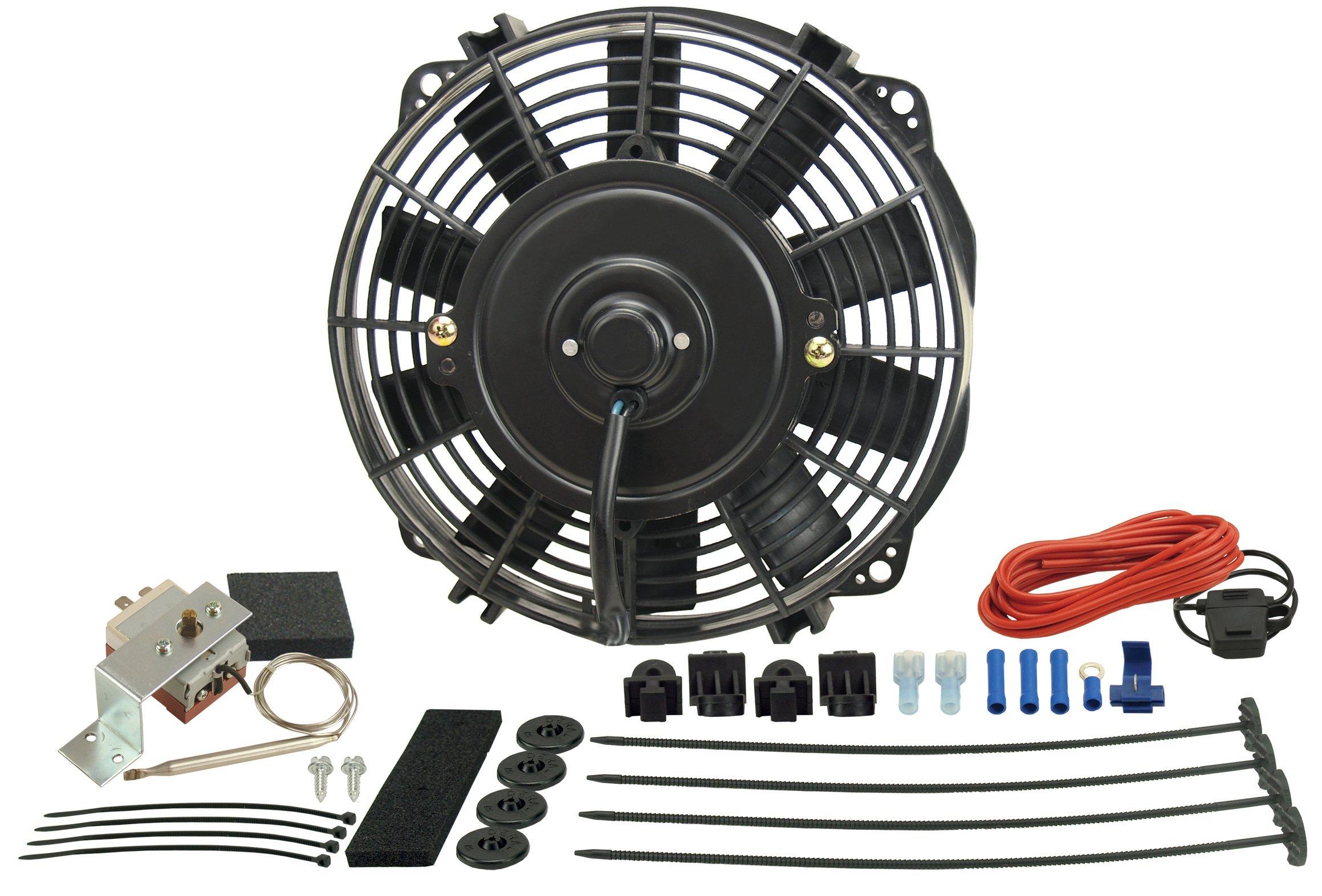 Derale 17320 Heavy Duty Fan Blade Series 1000 20 Steel Rigid Race Belt Driven Fan Standard Rotation