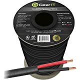 16 AWG CL3 OFC Outdoor Speaker Wire, GearIT Pro Series 16 Gauge (250 Feet / 76.2 Meters/Black) Oxygen Free Copper UL CL3 Rated for Outdoor Direct Burial and in-Wall Installation Speaker Cable