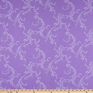 Benartex Classic Scrolls And Blenders Jackie Scroll Medium Purple Quilt Fabric By The Yard