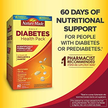 af9a69b156 Amazon.com: Diabetes Health Pack Nutritional Support for Diabetes ...