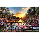 [ Puzzle life ] Amsterdam Sunrise | 1000 Piece - Large Format Jigsaw Puzzles. Free Logic Games for Couples, Child, Teens…