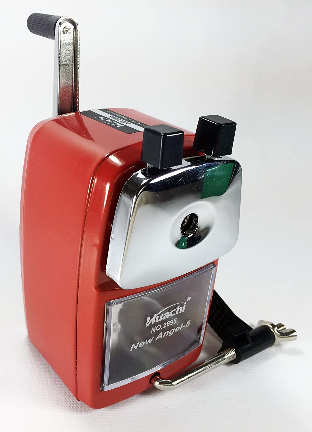 New Angle-5 Metal Pencil Sharpener Hand-Cranked, Quiet for Office, Home and School (RED) Canada Supplier