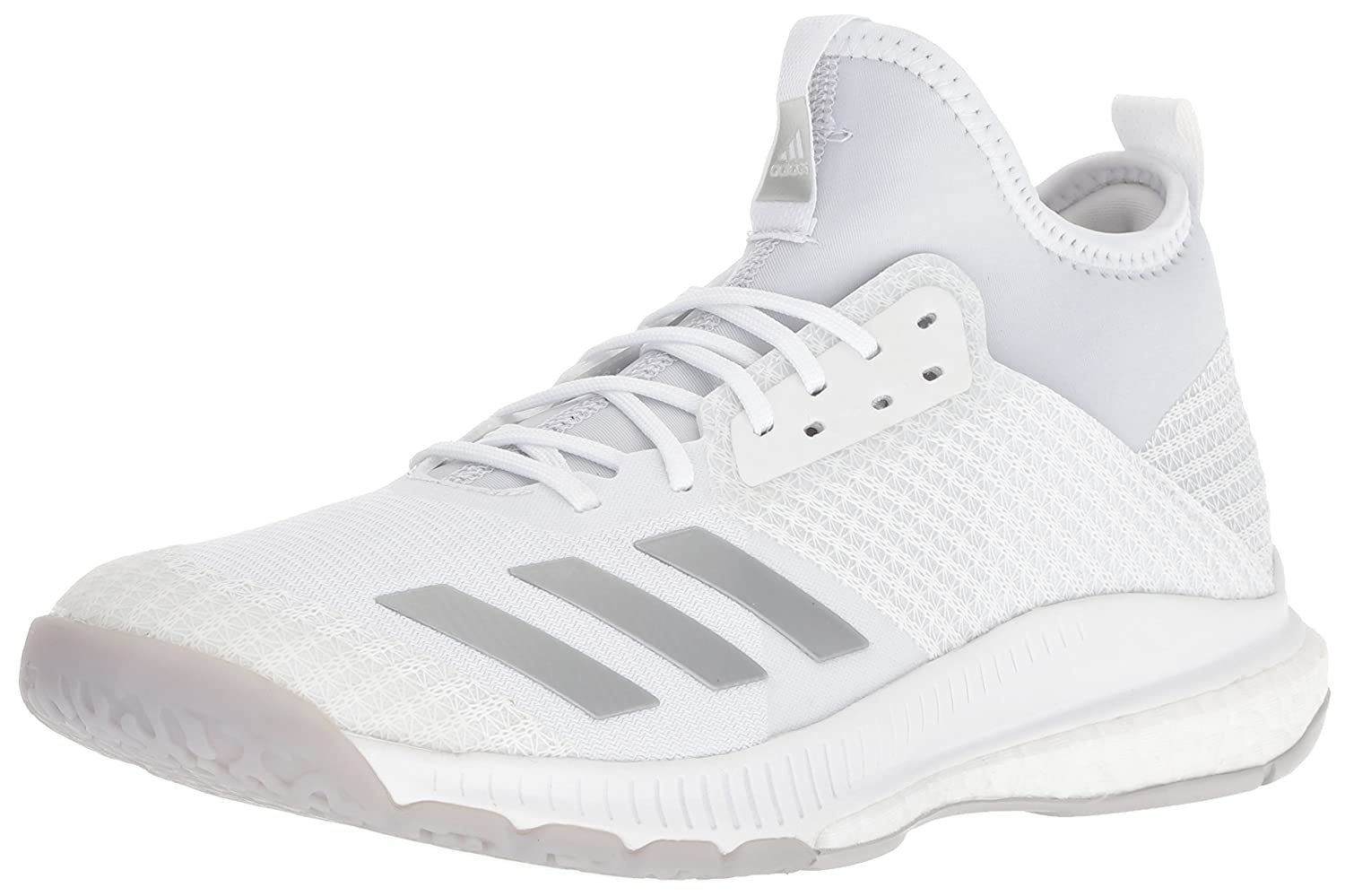 adidas Women's Crazyflight X 2 Mid Volleyball Shoe B077X57NQP 6 M US|White/Silver Metallic/Grey