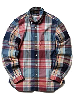 Big Check Buttondown Shirt 11-11-5196-139: Navy / Red