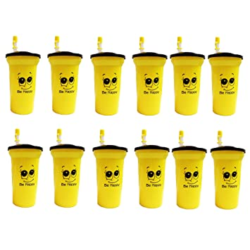 Buy Kieana Bottle Sippers With Straw For Kids Birthday Return Gifts Pack Of 12 Yellow Online At Low Prices In India