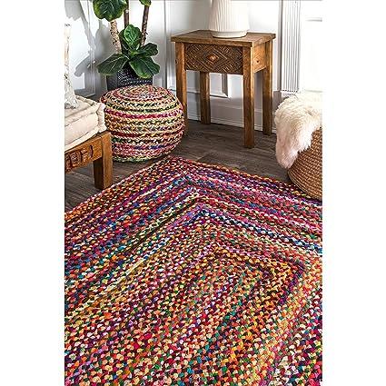 Avioni Home Cotton Chindi Braided Area Rug, Handmade By Skilled Artisans