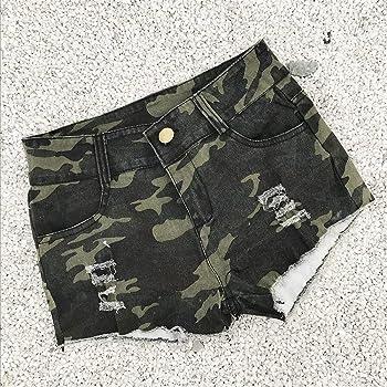 FELZ Pantalones Cortos de Mezclilla para Mujer Mujeres Sexy ...